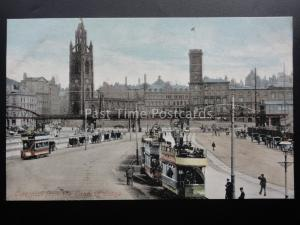 LIVERPOOL from Landing Stage shows Trams & ELECTRIC OVERHEAD RAILWAY c1903