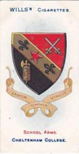 Wills Vintage Cigarette Card School Arms 1906 No 34 Cheltenham College