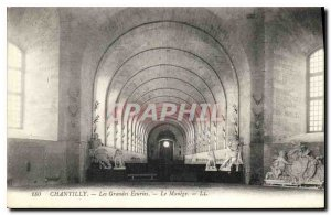 Old Postcard Chantilly the Great Stables Horses Le Manege