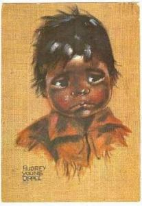 Artist Signed-Audrey Young Oppel,Indian Child,PU-1973
