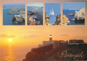 B110698 Portugal Sagres e Cabo de Sao Vicente Algarve Lighthouse Boats