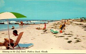 Florida St Petersburg Madeira Beach Relaxing On The Gulf Beach 1968
