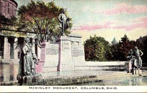 Ohio Columbus McKinley Monument 1910