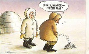 Bimey, Nanook. Frozen Peas! Bamforth Comic Series PC # 885