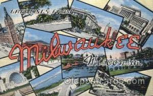 Milwaukee, Wisconsin, Usa Large Letter Town, Towns, Postcard Postcards  Milwa...