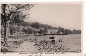 Cumbria Postcard - Ambleside Esplanade & Promenade, Waterhead   3298