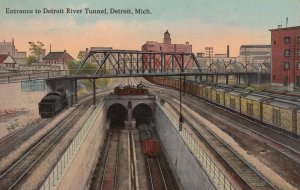 DETROIT, Michigan, 1900-10s; Entrance to Detroit River Tunnel