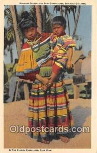 Seminal Indian Postcard Seminole Children, Florida, USA Hiptenea Osceola & Ba...