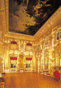 St Petersburg Russia Postcard Peterhof, The Great Palace, The Audience Room Y5