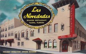 Las Novedades Spanish Restaurant Tampa Florida 1963