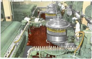 Bottling Process, Miller Brewing Company, Milwaukee, Wisconsin, WI, Chrome
