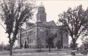 Nebraska Wahoo Court House Real Photo RPPC