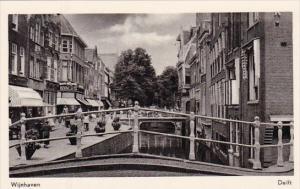 Netherlands Delft Wijnhaven Real Photo