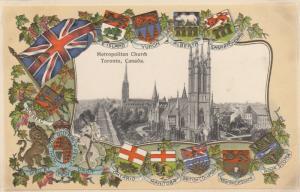 TORONTO, Ontario, Canada, 1900-10s ; Metropolitan Church, Embossed Coat of Arms