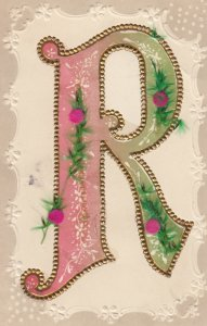 Letter R , attached Flowers , 00-10s
