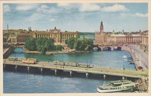 Sweden Stockholm Vy Over Norr Strom