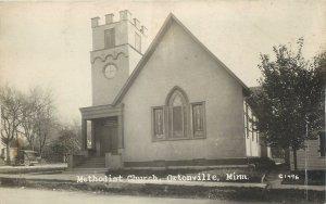 RPPC  ORTONVILLE, Minnesota  MN   METHODIST CHURCH  Big Stone County  Postcard
