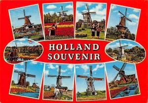 Netherlands Holland Souvenir multiviews Mills Moule Muhle Horse