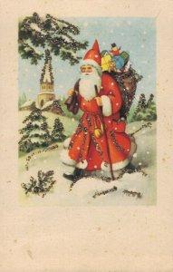 Merry Christmas Vintage Santa Claus Vintage Postcard 03.09