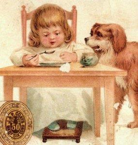 Lot of 3 1880's J&P Coats Six Cord Spool Thread Children Cute Dog P174