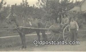 Horse Drawn Postcard Post Card Old Vintage Antique