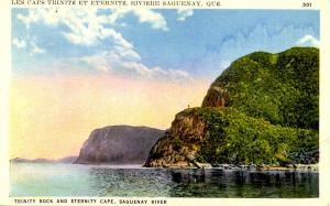Canada - Quebec, Saguenay River. Trinity Rock and Eternity Cape