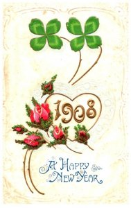 New Year ,  1908 , clovers