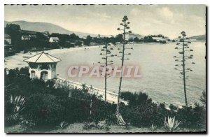Old Postcard Toulon Beach Sablettes