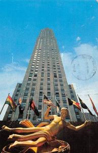 US N.Y. New York City RCA Building, highest building in Rockefeller Center 1962