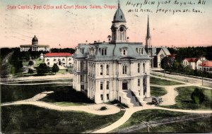 Oregon Salem State Capitol Post Office and Court House 1906