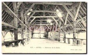 Old Postcard Dives Interior of Hall