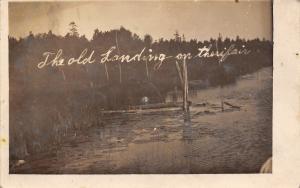 Paynesville~Barnesville~Janesville? MN~Old Landing~Logs & Lily Pads~1915 RPPC