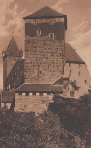 Nurnberg Funfeckiger Turm Old German Postcard