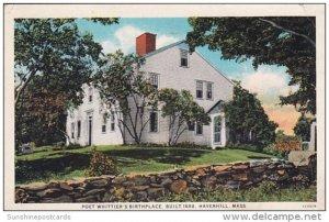 Poet Whittier's Birthplace Built 1688 Haverhill Massachusetts 1929
