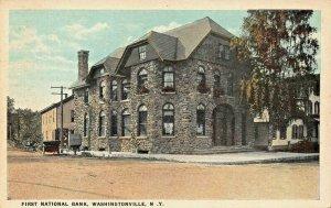 WASHINGTONVILLE NY~FIRST NATIONAL BANK-STONE BUILDING~J RUBEN PUBL POSTCARD