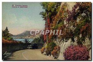 Old Postcard Frontiers Itallana Vedutta di Mentone