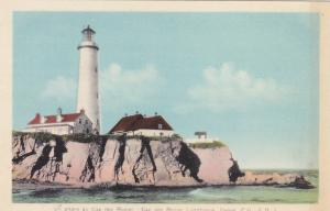 Hand- Coloured, Cap des Rosier Lighthouse, Gaspe, Provence of Quebec, 1910s-20s