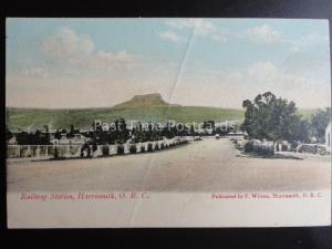 South Africa HARRISMITH O.R.C. RAILWAY STATION c1909 old Postcard by F. Wilson