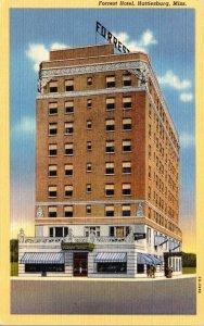 Mississippi Hattiesburg Forrest Hotel Curteich