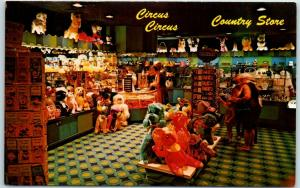 1970s Las Vegas, Nevada Postcard CIRCUS CIRCUS Hotel Casino Country Store