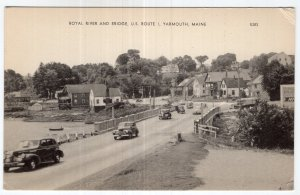 Yarmouth, Maine, Royal River And Bridge, U.S. Route 1