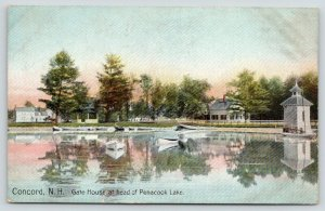 Concord New Hampshire~Penacook Lake~Gate House~Boats & Cottages~c1910