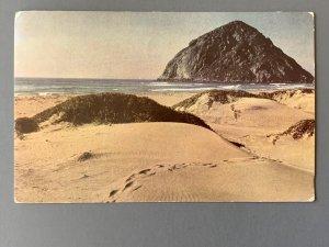 Morro Rock Morro Bay CA Chrome Postcard A1173090245