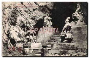 Annam Hue Old Postcard Tourane Four genies defendant Indochine Marble Cave In...