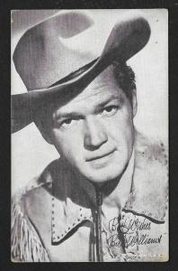 ARCADE CARD Cowboy Entertainer Bill Williams