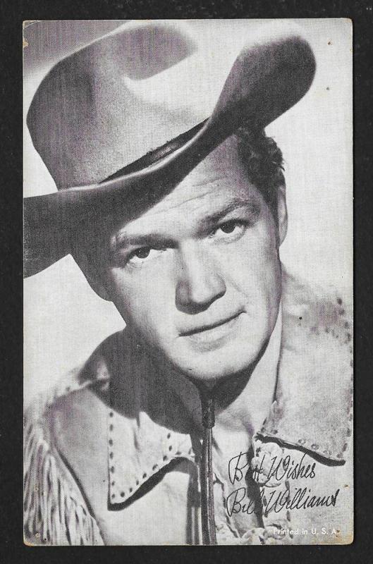 ARCADE CARD Cowboy Entertainer Bill Williams