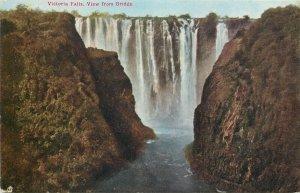 Zimbabwe Zambia Victoria Falls view from the Bridge