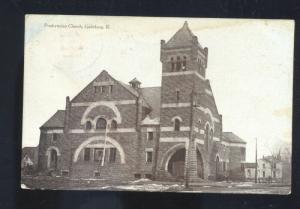 GALESBURG ILLINOIS PRESBYTERIAN CHURCH VINTAGE POSTCARD BEAUMONT TEXAS