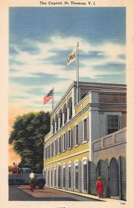 The Capitol, St. Thomas, U.S. Virgin Islands, Early Linen Postcard, Unused