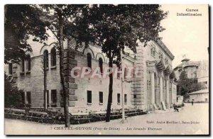 Auvergne Old Postcard Chatel Guyon Large baths